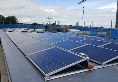 Solar panels installation - commercial